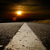 Asphalt cross the mountians — Stock Photo