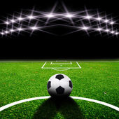 Soccer field with light — Foto de Stock