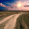 Royalty-Free Stock Photo: Ground road at the sunset