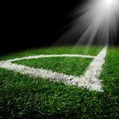 Pallone da calcio sul campo — Foto Stock