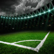 Stock Photo: Soccer field with bright lights