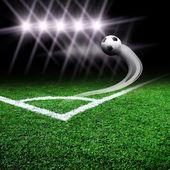 Campo de fútbol con luz — Foto de Stock