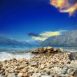 Adriatic sea with the mountians — Stockfoto