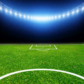 Soccer stadium with thw lights — Foto Stock