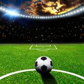 Estadio de fútbol con luces thw — Foto de Stock