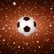 Soccer ball with the stars — Stock Photo