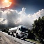 Truck on the asphalt road — Stock Photo #29637833