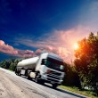 Truck on the asphalt road — Stock Photo