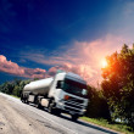 Truck on the asphalt road — Stock Photo #30463995