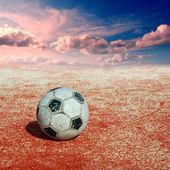 Futbol topu tadium üzerinde — Foto de Stock