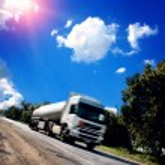Truck on the asphalt road — Stock Photo #32570823