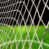 Soccer net at the stadium — Stock Photo