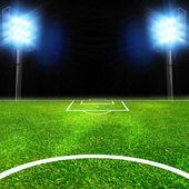 Soccer stadium with lights — Stock Photo