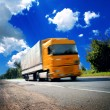 Truck on asphalt road — Stock Photo