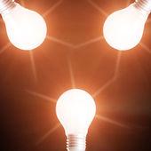 Bright lamps — Stock Photo