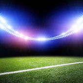 Stadium in lights — Stock Photo