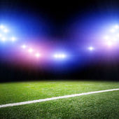 Image of stadium in lights and flashes — Stock Photo
