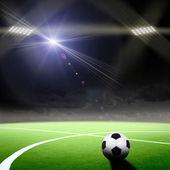 Fotbalový stadion s jasnými světly — Stock fotografie