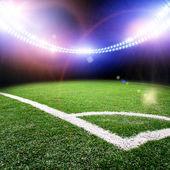 Bilden av stadion i lampor och blinkar — Stockfoto