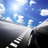 Car on the european autoban — Foto Stock