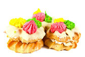 Sweet decorated pastry — Stock Photo