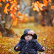 Stock Photo: Little girl portrait in autumn park