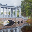 Marble bridge in Tsarskoe selo, Russia — Stock Photo #17978715