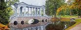 Ponte di marmo a tsarskoe selo, russia — Foto Stock