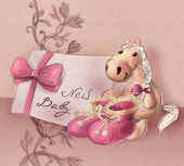 Greeting card for baby birth — Stock Photo