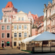 Stock Photo: Architecture of Old Market in Poznan, Poland