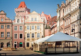 Architecture of Old Market in Poznan, Poland — Stock Photo