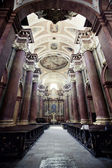 Interior of the church in Poznan, Poland — Stock Photo