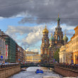 Foto Stock: Church of Savior on Blood in St Petersburg