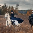 Horse-hunting with ladies in riding habit — Stock Photo #36417617
