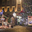 Square in Riga in christmas illuminations — Stock Photo