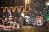 Square in Riga in christmas illuminations — Stock Photo