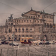 The Semperoper at cloudy day, Dresden — Stock Photo