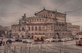 The Semperoper at cloudy day, Dresden — Zdjęcie stockowe