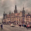 Dresden at winter cloudy day — Stock Photo