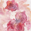 Abstract roses watercolor background — Stock Photo