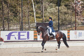 The Winner Inessa Merculova on horse named Mister X — Foto de Stock