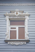 Russian national wooden architrave — Stock Photo
