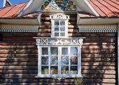 Rosyjski krajowych Ościeżnica drewniana — Zdjęcie stockowe
