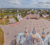 Vologda panorama from bell-tower — Stock Photo