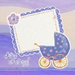 Baby boy arrival card — Stock Photo #8881604