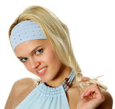 Young, beautiful blonde — Stock Photo