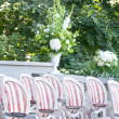 Chairs ready for wedding ceremony — Stock Photo