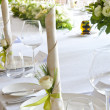 Wedding table setting — Stock Photo #13391134