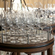Wine glasses ready on a table - Stock Photo