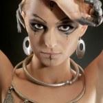 Beautiful shaman woman. — Stock Photo #13392169